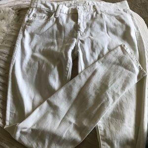 MOTHER DENIM white jeans